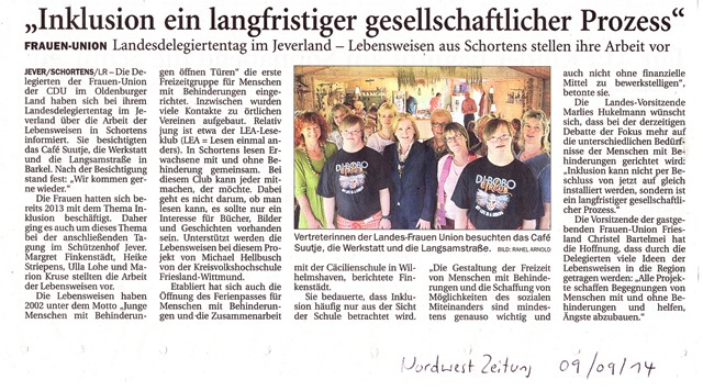 Landesdeligierten der Frauenunion im Café Suutje