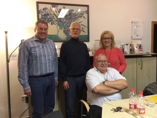 V.l.n.r: Wolf Kulawik, Manfred Döhn, Martin Hillen, Hildegard Klose